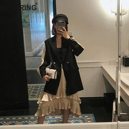 Discount chiffon blazers - GETSRING Women Blazer Chiffon Sleeve Long Blazer Jacket Single Button Womens Blazers Long Sleeve Loose Jackets Spring 20