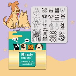$enCountryForm.capitalKeyWord Australia - Beautybigbang Vintage Stainless Steel Nail Stamping Plates Cute Panda Dog Dream Heart Cat Image Nail Art Template Stencil 030