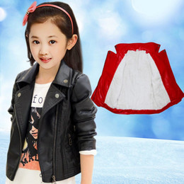 $enCountryForm.capitalKeyWord Canada - New Girls Jackets Kids Winter Leather Jackets Black Turn-down Collar coats Manteau Casaco Infantil Girls Jacket 7CT008
