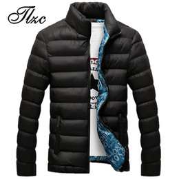 $enCountryForm.capitalKeyWord Australia - TLZC 2018 Men Fashion Winter Cotton Jacket Plus Size M-5XL Stand Collar Male Solid Parkas Mens Thick Jackets and Coats