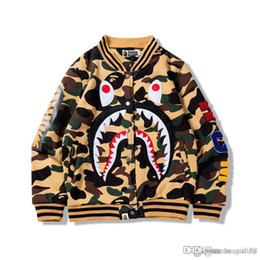 For MEN Sweatershirt Shark with Cotton High Quality Cardigan Hip Hop Hoodies  Pablo Sweater kanye West Shirts Long Sleeve Loose Outdoor Wear 27b2d76fa