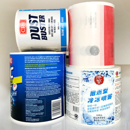 Rolled Labels Australia - Customized white PVC vinyl roll label adhesive sticker package printing glossy sticker CMYK strong adhesive sticker label