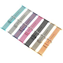 Watch Student Australia - Wholesale Nylon Strap For 42mm 38mm Apple Smart Watches Strap Belt Bracelet Breathable Stylish Student Leisure Multiple Colour Summer Casual