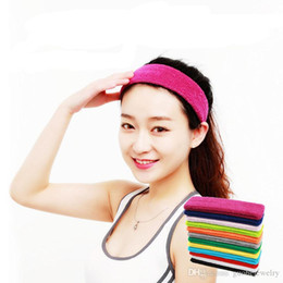 Badminton Towel Australia - Hot selling womens headbands Basketball badminton sweat headband Sport Nursing Towel headband free shipping