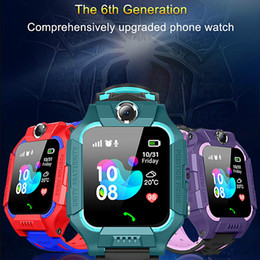 child gps tracker bluetooth smart watch NZ - 2019 Z6 Children Bluetooth Smart Watch IP67 Waterproof SIM Card LBS Tracker SOS Kids Smartwatch For iPhone Android Smartphone