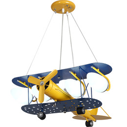 Airplane Art Australia - Cartoon LED Pendant Lights For Bedroom Boys Hanging Lamp Kids Pendant Lamps Airplane HangLamp Children Lighting Fixtures