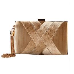 Silk Evening UK - 2019 Women Clutch Bag Female Silk Envelope Purse Evening Clutch Bag Designer Party Gold Wedding Clutches Bags