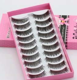 $enCountryForm.capitalKeyWord Australia - #5001 Fashion Eyelashes High Quality Eye Lashes 10 Pairs Thick Long Cross Party False Eyelashes Black Fake Eye