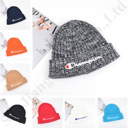 $enCountryForm.capitalKeyWord Australia - Luxury Designer Knitted Beanie Hats Skull Caps Champion Embroidery Letter Autumn Winter Skiing Cap Warm Crochet Hats For Men Women C81906