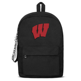 $enCountryForm.capitalKeyWord UK - Unisex high quality nylon Backpack Wisconsin Badgers primary team logo Lightweight Casual Travel Daypack Bookbag free shipping