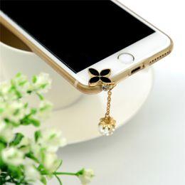 $enCountryForm.capitalKeyWord NZ - Universal 3.5mm Diamond Dust Plug Mobile Phone accessories Gadgets Earphone Enchufe Del Polvo Plugs For iPhone 7 6 6S 5S