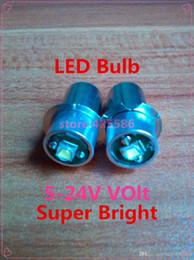 $enCountryForm.capitalKeyWord Australia - Free Shipping 50PCS Led Bulb P13.5s 3V-18V Recessed Screw Led 3W Cree Base Led P13.5S 24V Flashlight Bulb Super Bright