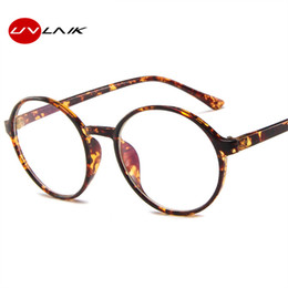 804a4658c00bf UVLAIK Fashion Transparent Round Glasses Frame Women Spectacle Men Eye  Glasses Frame Nerd Optical Frames Clear Lens