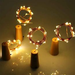 Green Solar Fairy Lights Australia - Bottle Wine Cork Wine Copper Wire Fairy Lights Led Battery Operated Wine Copper Wire String Lights
