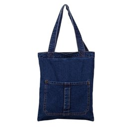 women jeans bags Australia - Hot Selling Fashion Women Messenger Bags Handbag Denim Jeans Lady Clutches Casual Shoulder Bag 32*3*39CM