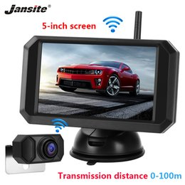 "wireless backup rear view camera 2020 - Jansite 5"" Car Monitor Rear view camera Digital 1080P Wireless monitor for Backup Cameras Auto Parking System Night"