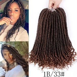 Curly ombre CroChet hair online shopping - 1 Pc Faux Locs Curly Crochet Braids Synthetic Hair Extensions Ombre Kanekalon Braiding Hair b