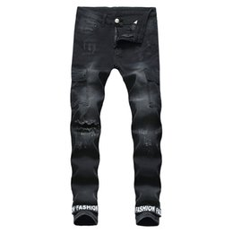 $enCountryForm.capitalKeyWord UK - Fairy2019 For Cross Men's Jeans Elastic Force Small Directly Canister Self-cultivation Trend Male Holes Will Pocket Man Long Pants