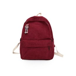 School Backpack Canvas Sport Bag Australia - New Casual Large Capacity Wear Resistant Travel Backpacks Fashion Solid Wild Student School Bags Trendy Muti Colors Breathable Unisex Bags