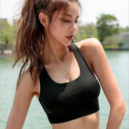 a01b5727f New sexy strap bra high quality beauty back fitness bra solid color  shock-proof collection breast yoga underwear women sports running vest