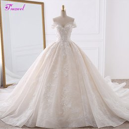 $enCountryForm.capitalKeyWord NZ - Vestido De Noiva Appliques Lace Flowers Princess Wedding Dresses 2019 Sweetheart Neck Pearls Royal Train Ball Gown Bridal Dress Y19072901