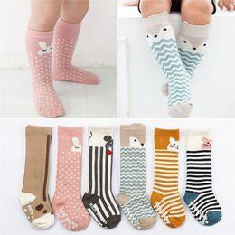 3dd25ceca Baby Socks Newborn Kids Girl Boy Animal Pattern Anti-slip Knee High Sock Fox  Cat Cotton Cute Cartoon Infant Toddler