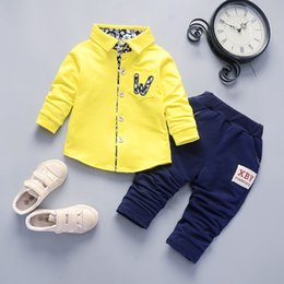 Cute Outfits For Spring Australia - good quality baby boys Toddler fashion outfits kids clothing sets spring autumn infant boys tops+ pants sprint sport suit for boys