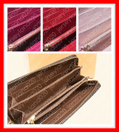 Wholesale korean evening dresses fashion resale online - M60017 ZIPPY WALLET Designer Top Fashion Women s Long Sarah Zipper Wallet Luxury Card Holder Case Evening Bag Clutch Coin Purse Brown Canvas