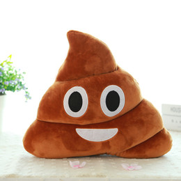 $enCountryForm.capitalKeyWord Australia - Browm Emoji Smiely Poop Pillow Plush Cushions Soft Plush 14x10x4.5cm funny Home Decor Kids Gift Stuffed Poop Doll Keychain