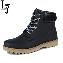 print casual canvas shoes UK - 2017 Brand Hot Newest Keep Warm Men Winter Boots High Quality PU Leather Wear Resisting Casual Shoes Working Fahsion Men Boots