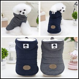 New Stylish Clothing Australia - Dog clothes dog hoodies pet clothes for dogs coat jackets autumn and winter mustache two legs cotton coat simple and stylish cold and warm