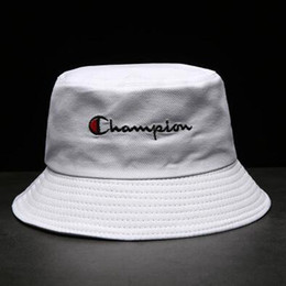 $enCountryForm.capitalKeyWord Australia - New Hot Champion Bucket Hat For Men Women Foldable Caps Black Fisherman Beach Sun Visor Sale Camping Fishing Hunting