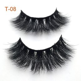 Natural Look False Eyelashes Australia - Free shipping 100% Mink Eyelashes Wholesale Brushy And Natural Look Durable Makeup False Eyelashes Mink Lashes 3D