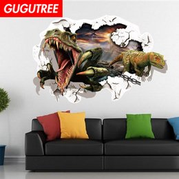 $enCountryForm.capitalKeyWord Australia - Decorate home 3D dinosaur cartoon art wall sticker decoration Decals mural painting Removable Decor Wallpaper G-822