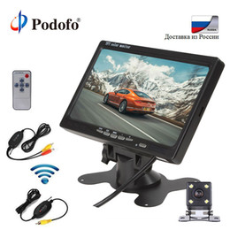 Kit mini camera wireless online shopping - Podofo Wireless Parking Assistance System kit Assistance Mini Car Rear View Camera inch TFT LCD Car Backup Reverse Monitor