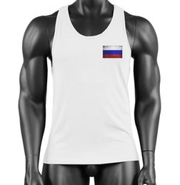 $enCountryForm.capitalKeyWord Australia - 2019 Cross-Border Products Men's Fitness Pure Cotton Standard European Code Hot Printing New Russian Flag vest Youth Camisole GYM