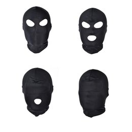 $enCountryForm.capitalKeyWord Australia - Fun games head Black Sex Mask Piece Sexy Head Mask Slave Open Mouth SM Bondage Sex Kinky Toys for Woman Man Couples