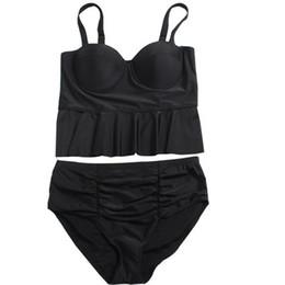 9e9b176dd02 Plus Size Swimwear for Women High Waist Swimsuit 2019 Sexy Brazilian Micro  Bikinis Lady Beach Biquinis Push up Swim Wear Bathing Suit Black