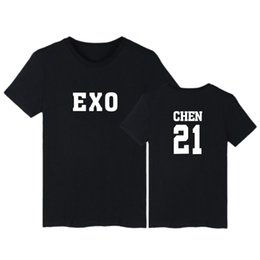 Exo Black Shirt Australia - 2019 new Exo T-shirt Men women Cotton High Quality Fashion Short Sleeve Men's T-shirt Casual Hip Hop Top Clothes