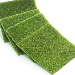 fake grass mats Australia - Creative Micro Landscape Moss Grass Mat Square Fake Moss Home Garden Wedding Party Decoration Moss Lawns Fake Sod 15*15&30*30cm