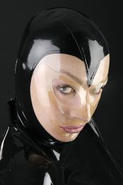 latex rubber costume 2019 - (LH1107) 100% natural latex mask rubber hood Mask with open eyes cheap latex rubber costume