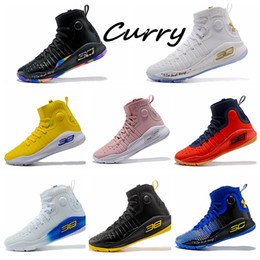 a40560466e5a Curry 4 Kids Birthday Fashion Stephen Curry 4 Classic Triple White Mens  Women kids Basketball Shoes Brand Sneakers Designer Men US4-US12