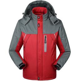 Waterproof Parkas Australia - Winter Thicken Coat Men Outwear Jackets Waterproof Windproof Fleece Warm Climb Mountain Jacket Mens Windbreaker Hooded Parkas