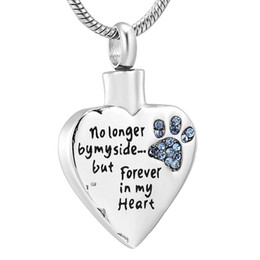 $enCountryForm.capitalKeyWord Australia - IJD8719 Fashion Pet Cremation Jewelry Stainess Steel Heart Keepsake Ashes Necklace Dog Cat Paw Memorial Urn Pendant