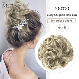 Hairpiece For Ponytail Australia - Neitsi Women Curly Chignon Hair Bun for Brides Synthetic High Extensions Ponytail Hair Bundles Hairpieces Buns 111#