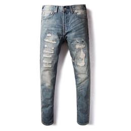 $enCountryForm.capitalKeyWord Australia - Japanese Style Fashion Men Jeans Retro Slim Fit Ripped Jeans Men Patchwork Embroidery Denim Pants Streetwear Hip Hop homme