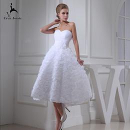 Beautiful Beach Pictures Australia - Eren Jossie 2019 Spring New Arrival White Bridal Wedding Dress Knee Length Beautiful Design Skirt Attractive Gown