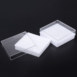 Wholesale 200pcs Transparent Acrylic Plastic Earrings Box For Display Jewelry Bracelet Ring Packing Carrying Cases Gift Boxes cm