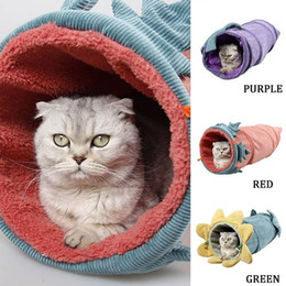 $enCountryForm.capitalKeyWord Australia - Funny Pet Cat Tunnel Foldable Play Tubes Balls Collapsible Crinkle Kitten Toys Puppy Ferrets Rabbit Play Dog Tunnel Tubes