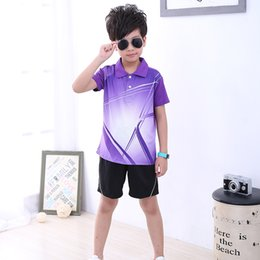 Children S Boys Shirts Australia - Free print Children Tennis clothes boy sports shirt , Sports children table tennis sets girl , Quick Dry Badminton clothes 5051